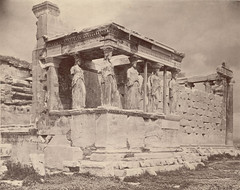Erechtheum, Porch of Caryatids (Cornell University Library) Tags: archaeology ruins columns temples mythology caryatids porches ioniccapitals cornelluniversitylibrary erectheumacropolisathensgreece culidentifier:value=155309000290 culidentifier:lunafield=accessionnumber