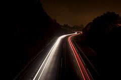 AP-9. (benitojuncal) Tags: españa night noche spain marin galicia autopista nocturna pino pontevedra exposicion larga rias nudo atlantico baixas ap9 audasa