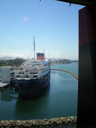 Queen Mary from Lido Deck, Aft