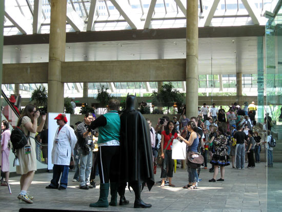 Cosplayers in Charles Street Lobby (Click to enlarge)