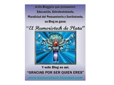 PREMIO EL HUMORISTECH DE PLATA