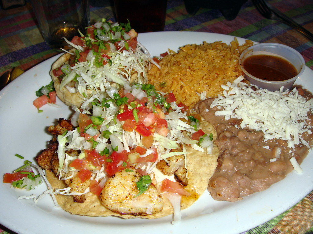 Fish Tostada and Prawn Sope Combo