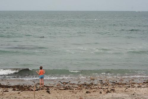 girl vs. ocean