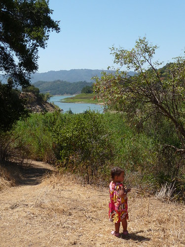 view of lake casitas from playground
