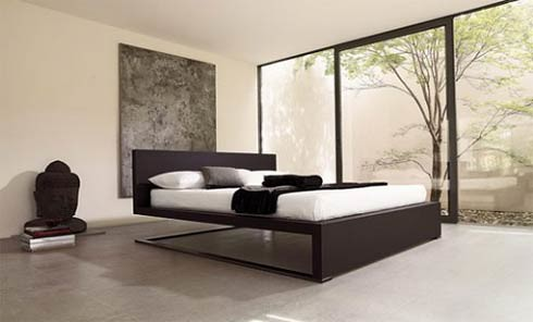 floating bed for bedroom interior design