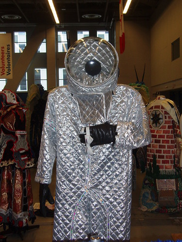 An astronaut costume displayed at WorldCon 2009.