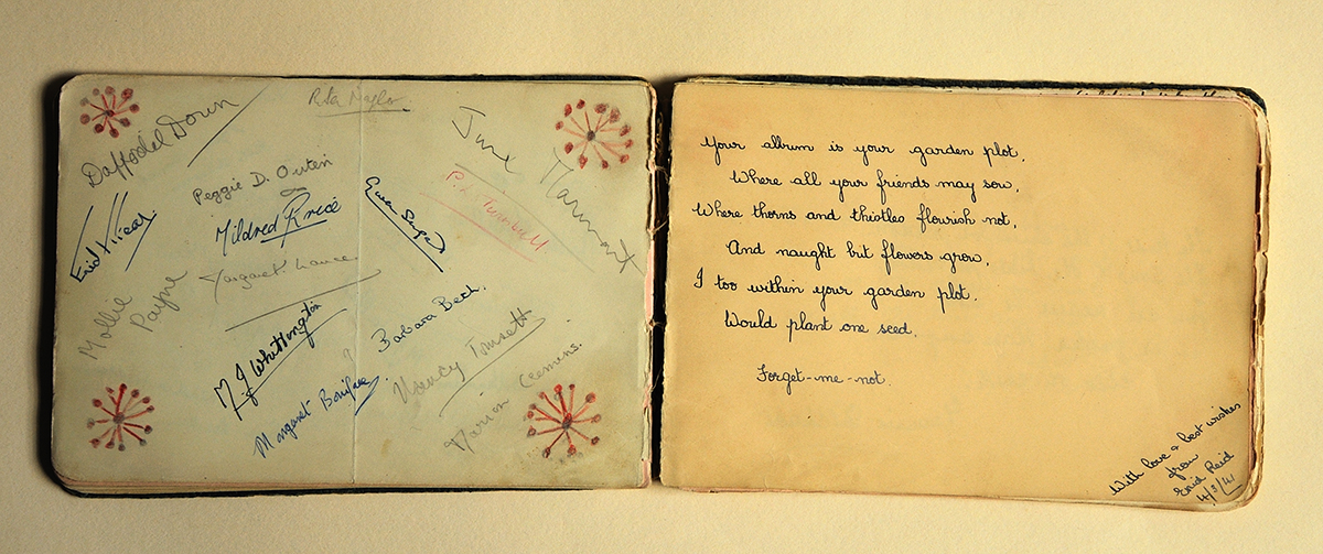 Autograph album...4th March 1941
