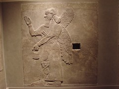 Ashurnasirpal II, Assyrian relief, Northwest-Palace, Room C, Relief C-b-2 (Metropolitan Museum of Art, New York) (sipazigaltumu) Tags: door new york art wall museum bucket ancient northwest near room decoration palace east beam relief limestone genius winged metropolitan slab ane assyria assyrian mma ashurnasirpal nimrud apotropaic kalhu assyrien assyrisch assurnasirpal