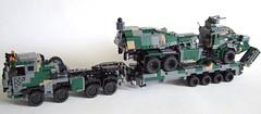 Bringing out the big boys (Aleksander Stein) Tags: truck tank lego military transport modular heavy ctl transporter 8x8 ndc faran
