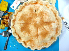 apple pie, pre-baked (vegan)