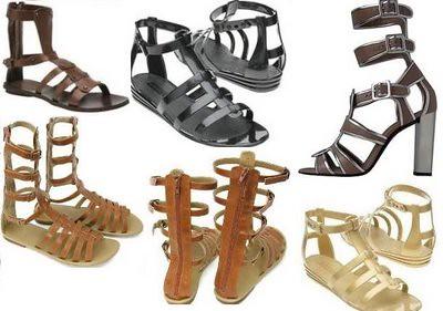 dicas moda gladiador sandália