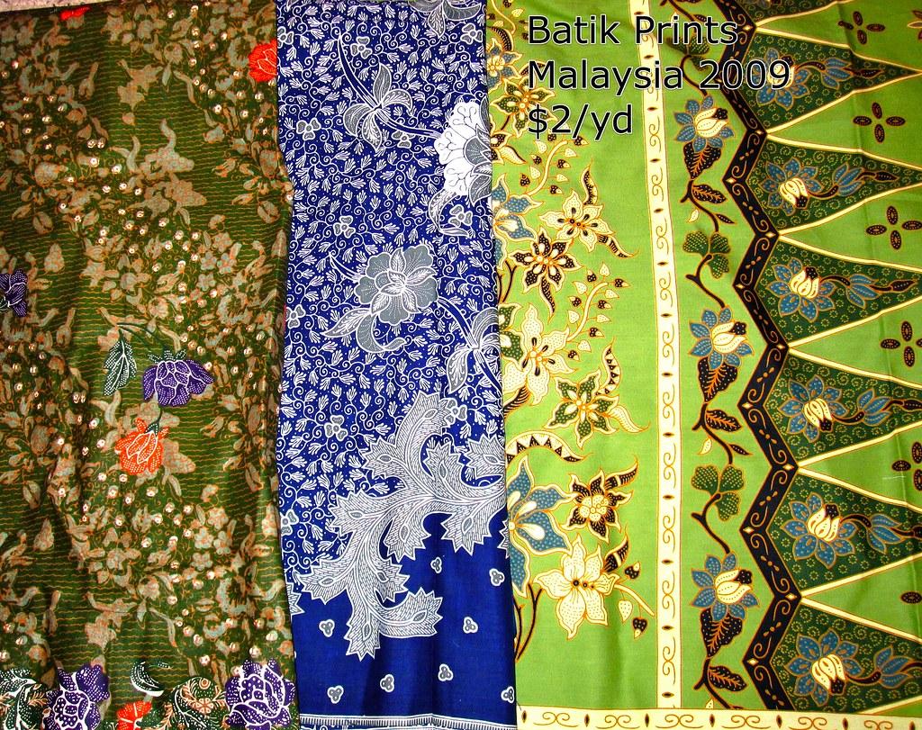 Batiks from Malaysia 8-09
