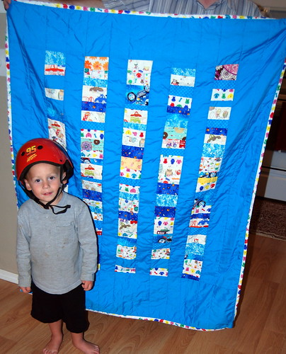 Tyler and his quilt