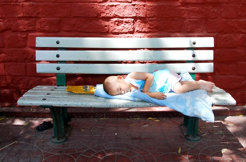 naptime in the heat, beijing