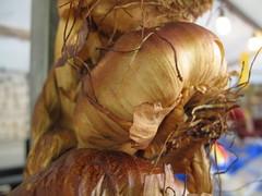 Bulbs of roasted garlic