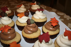 Autumnal Cupcakes (irresistibledesserts) Tags: birthday autumn wedding fall leaves shower cupcakes acorns