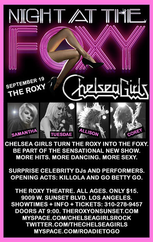 A Night At The Foxy With The Chelsea Girls September 19, 2009