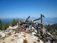 Old lookout, Parker Peak, Selkirk Mountains, North Idaho.