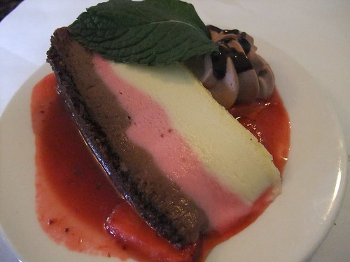Neapolitan Cheesecake from The Worthington Inn