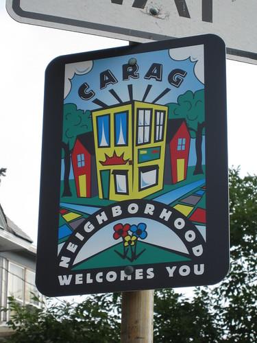 CARAG Neighborhood Welcomes You Sign