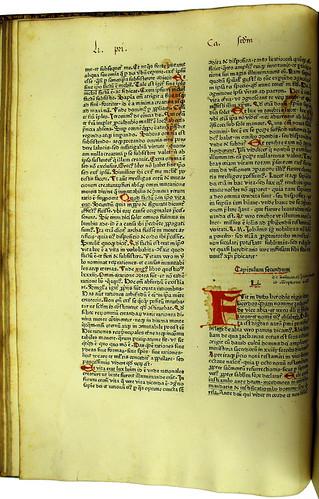 Decorated capitals and manuscript annotations in Zacharias Chrysopolitanus: Unum ex quattuor seu Concordantia evangelistarum