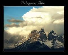 Patagonic Mountains (La Vida Segun Seba) Tags: chile sky patagonia mountains southamerica clouds nationalpark outdoor cielo torresdelpaine montaas magallanes parquenacional ultimaesperanza cuernosdelpaine