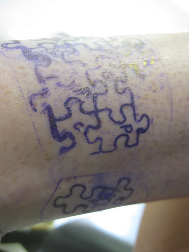 puzzle tattoo. Rebeccas Puzzle Tattoo