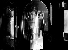 MIRRORS B&W (Dave Arnold) Tags: lighting uk light shadow blackandwhite bw white abstract black reflection art glass strange beautiful silhouette digital reflections landscape mirror weird photo blackwhite 3d cool movement energy experimental artist play artistic scanner contemporary space awesome creative mirrors experiment surreal atmosphere shades scan imagination abstracts trippy capture tones lightandshadow minimalist atmospheric photogram shimmer scannerart scanography layered scannography arnoldart