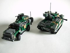 Dragoon Mk.II and 'Bayonet 40' (Aleksander Stein) Tags: lego military vehicle 40 patrol mkii dragoon bayonet apv armoured kmv hagglunds ifv cv10040
