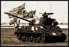 1944 M4A3 Sherman Tank (Cygnus~X1 - Visions by Sorenson) Tags: ohio summer usa sepia canon eos tank unitedstates fb cleveland wwii airshow worldwarii historical abrams 2009 worldwar2 thunderbolt armoredvehicle shermantank 50d clevelandnationalairshow burkelakefrontairport ef70200mmf28lisusm m4a3 ef2xextenderii craigsorenson allencountyhistoricalsociety creightonabrams capturingaircraftwithrob 20090924061649z 1944m4a3shermantank colonelcreightonabrams