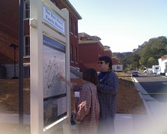 Judi & Sean checking out Presidio map