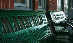 Bench at Mansfield Mass (Paul Broderick) Tags: railroad bench massachusetts depot mbta masstransit mansfield nikond90 mansfieldtrainstation