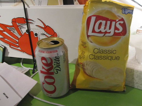 Diet Coke and Lay's from the machine - $1.25