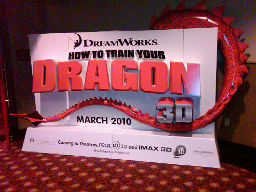 How To Train Your Dragon Movie Theater Standee