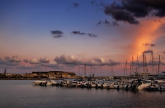 Sky colors (Theophilos) Tags: sky colors clouds marina boats greece crete rethymno