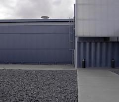 (Raphaël Teillet) Tags: architecture clouds composition nikon hangar d2x ciel paysage métal motifs vide absence béton