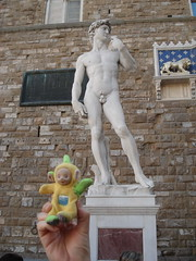 Michelangelo's David (mag3737) Tags: david statue wall florence firenze michelangelo lala palazzovecchio laalaa