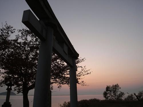 琵琶湖の夕焼け-15