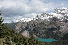 Tower of Babel (cec403) Tags: blue lake canada west canon rockies nationalpark hiking alberta banff xsi banffnationalpark morainelake