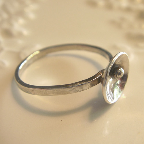 little dome ring with tiny ball
