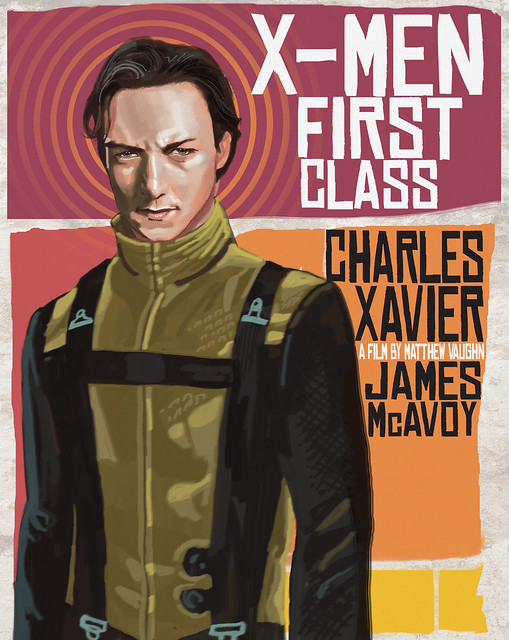 First Class X-men XAVIER rocketraygun kelvin chan blart