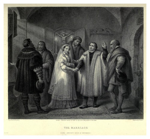 010-El matrimonio-Illustrations of the life of Martin Luther 1862- Pierre Antoine Labouchère