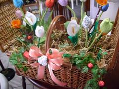 Uma semana de alegria e cores a todas!!! (cuoreditrappo) Tags: flores pano tecido retalho cestadeflores