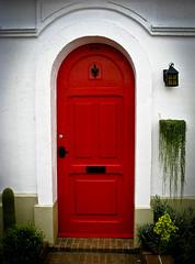 Red Door (Ashley 2276) Tags: door red gardens botanical rouge montreal jardin porte botanique