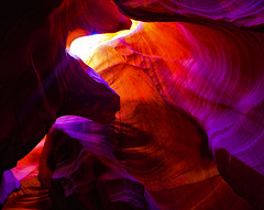 Color Ceiling (brig.halpin) Tags: light red orange southwest colors beautiful yellow canon interesting sand sandstone mark iii shapes az canyon sharp upper page antelope navajo slot 1ds beams 2470mm markiii 2470 f28l