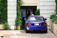 Rolls Royce Ghost RRR (Raphal Belly Photography) Tags: blue car french real photography eos hotel al holding riviera photographie estate ghost rich group uae wrap f1 casino montecarlo monaco bin belly exotic chrome r 7d passion rolls carlo monte rrr hermitage raphael rb royce fairmont spotting gp bleue metropole supercars rashid ajman rashed raphal in principality chromed nuaimi humaid ressources chromee