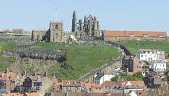 Whitby Abbey (daveandlyn1) Tags: whitbyabbey thefamouswhitbysteps rooftops whitby northyorkshire seaside coastaltown sx30is powershot canon bridgecamera