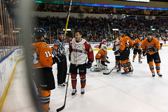 "Missouri Mavericks vs. Quad City Mallards, February 18, 2017, Silverstein Eye Centers Arena, Independence, Missouri.  Photo: John Howe / Howe Creative Photography • <a style=""font-size:0.8em;"" href=""http://www.flickr.com/photos/134016632@N02/32654240320/"" target=""_blank"">View on Flickr</a>"
