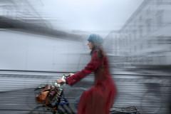 Florentine woman on bike