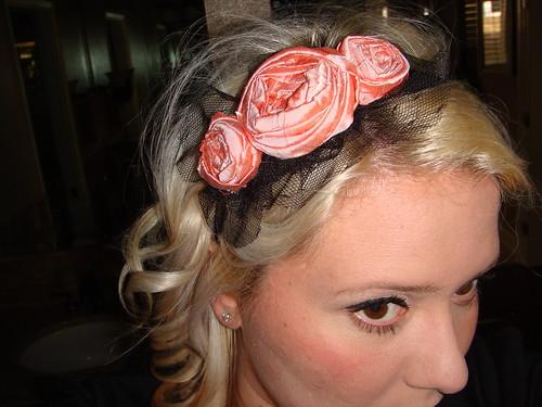 apricot silk headband